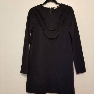 Sunday Best (Aritzia) black ponte knit shift dress